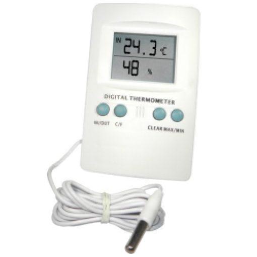 Digitális hő- és páratartalom mérő szondával